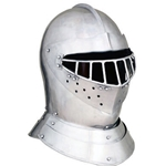 English Tourney Close Helm - SCA Helmet - 14 Gauge