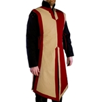 Medieval Tabard Red and Tan