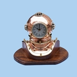 "Copper Divers Helmet Clock 12"" 143-DH-0820"