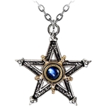 Medieval Pentangle Pendant Pewter Alchemy P124
