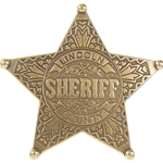 Lincoln County Sheriff Replica Badge OD104