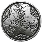 Small Celtic Horse of Epona Button 107.0707