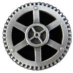 Steampunk Gear Button 107.1068