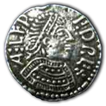 Small Medieval Coin Button 107.0711