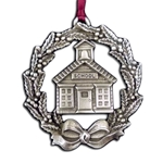 Schoolhouse Wreath Christmas Ornament 119.0487