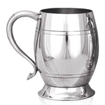 Barrel Shaped One Pint Pewter Tankard
