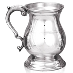 Heavy Gauge Henry One Pint Pewter Tankard