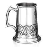 Heavy Gauge Celtic Tor One Pint Pewter Tankard
