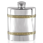Celtic Band Pewter Flask 6 Ounces