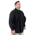 Renaissance Collared Cotton Shirt Black XXL GB3023