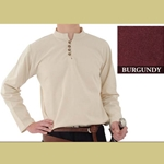 Heavy Cotton Shirt, Burgundy, Medium
