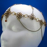 Medieval Antique Brass Chainmail Crown