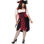 Crimson Pirate Plus Adult Costume 38-800071