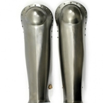 Steel Gladiator Style Greaves Set