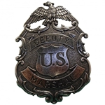 Deputy United States Marshal Eagle Badge - Nickel