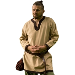 Basic Medieval Tunic - Tan/Brown