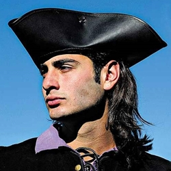 Leather Pirate or Highwayman Tricorn Hat