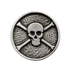Jolly Roger Pirate Button
