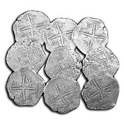 Pewter Pieces of Eight Set