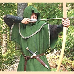 Archers Green Over Tunic with Hood
