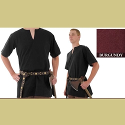 Medieval Tunic, Burgundy, Large