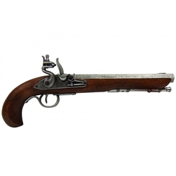 Kentucky Flintlock Pistol Grey - Non-Firing Replica